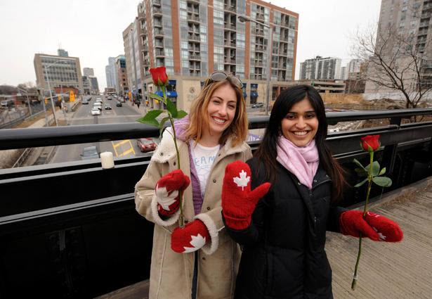 Women on Bridge Toronto Star March 4, 2011