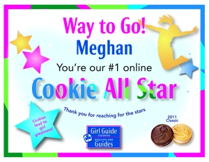 Online Cookie All Star Spring 2011 Winner