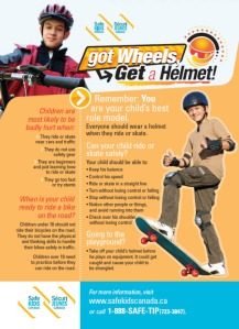Safe Kids Canada: Got Wheels? Get a Helmet (side 2)