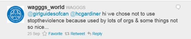 Wagggs_Word hashtag msg on Twitter, Sept 2011