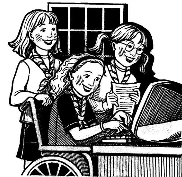 Girls at Computer