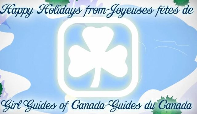 Girl Guide Holiday Card