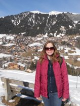 Sophie in Adelboden, Switzerland