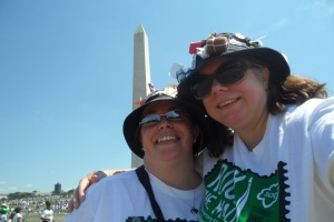 Karen and Marg attend Rock the Mall