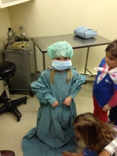 Brianne gets ready for surgery.