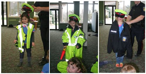Evie, Jacqueline and Naomi get outfitted with official Police wear