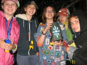 75th Edmonton Pathfinders on a night cache