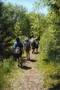 Hiking at Emily Park Guide Camp, 2012. Photographer Lisa Miles.